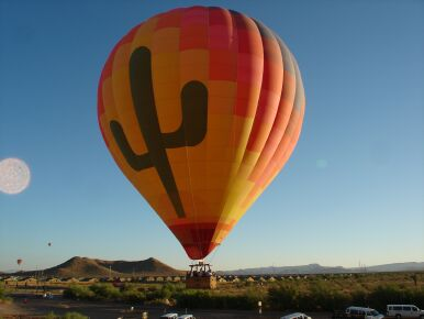 Sure is Hot in a Hot Air Ballon in the Summer in AZ